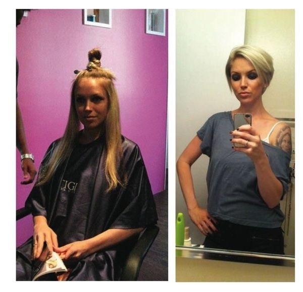 Vorher Und Nachher Top Frisuren Kurzhaarfrisuren Frauen Lange Kurze Haare Haarschnitt Ideen Styling Kurzes Haar