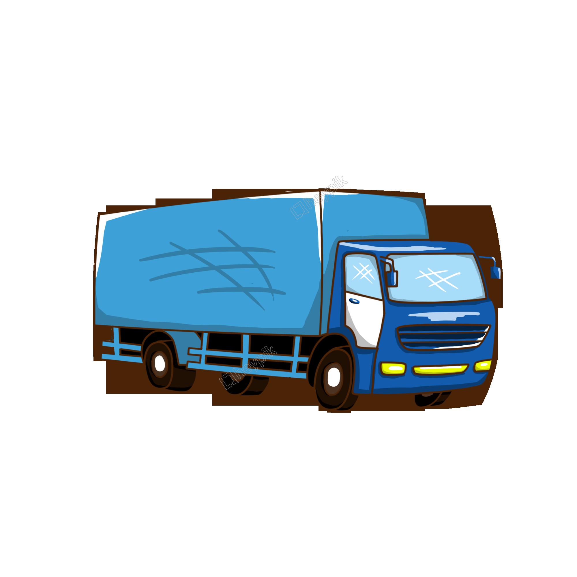 Dibujado A Mano Ilustración Transporte Camión De Dibujos Animados Archivo Png Y Psd Camiones De Transporte Transporte Ilustraciones De Dibujos Animados