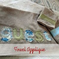 Towel applique