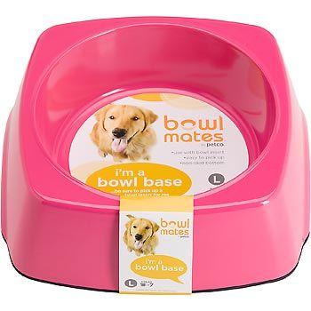 Bowlmates By Petco Large Square Base Dog Cafe Petco Dog Bowls