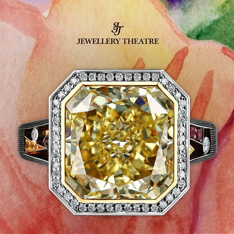 Pure luxury in this yellow #diamondring, from Art Stones #jewellerytheatre…