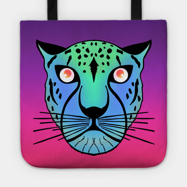 Neon Green Blue Black Leopard on hot electric pink purple ...