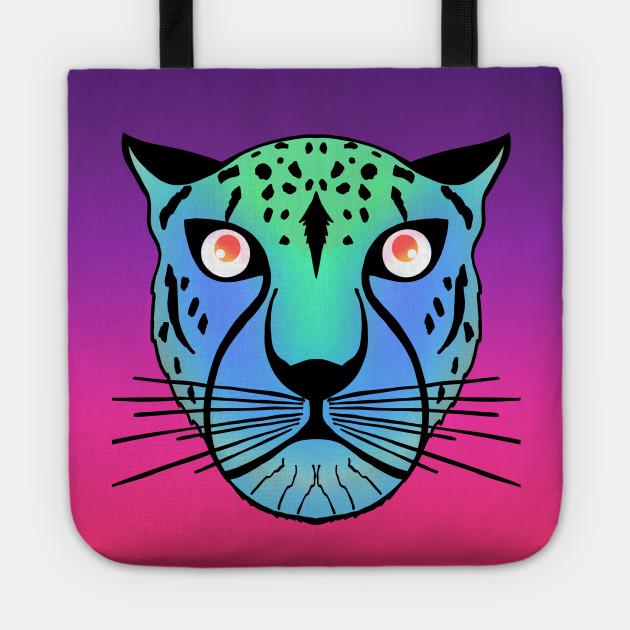 Neon Green Blue Black Leopard on hot electric pink purple ...