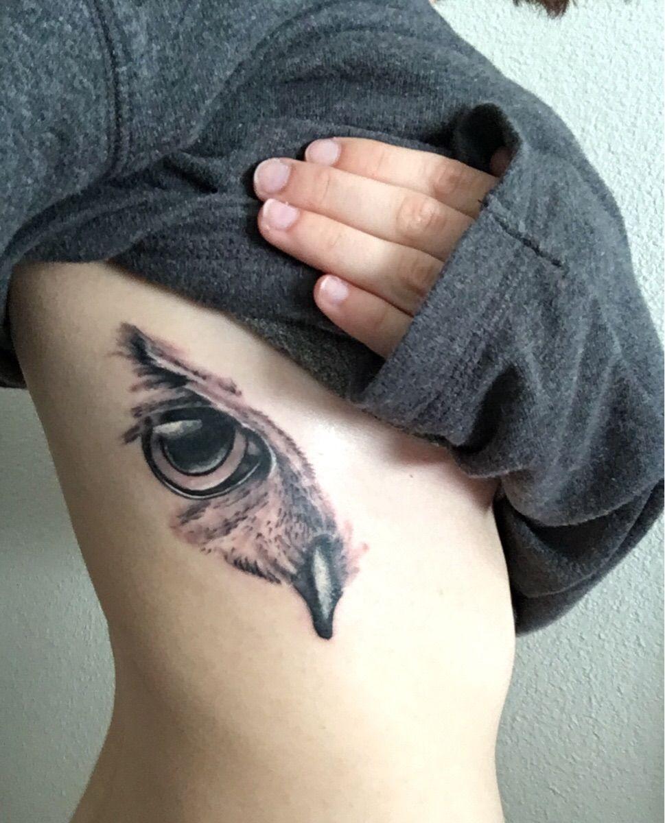 Owl S Eye By Lee Wicked Ways Tattoo San Antonio Tx Tattoo