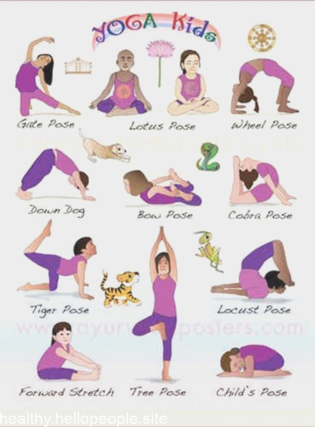 Basic Yoga Poses NEW Health and Fitness Poster