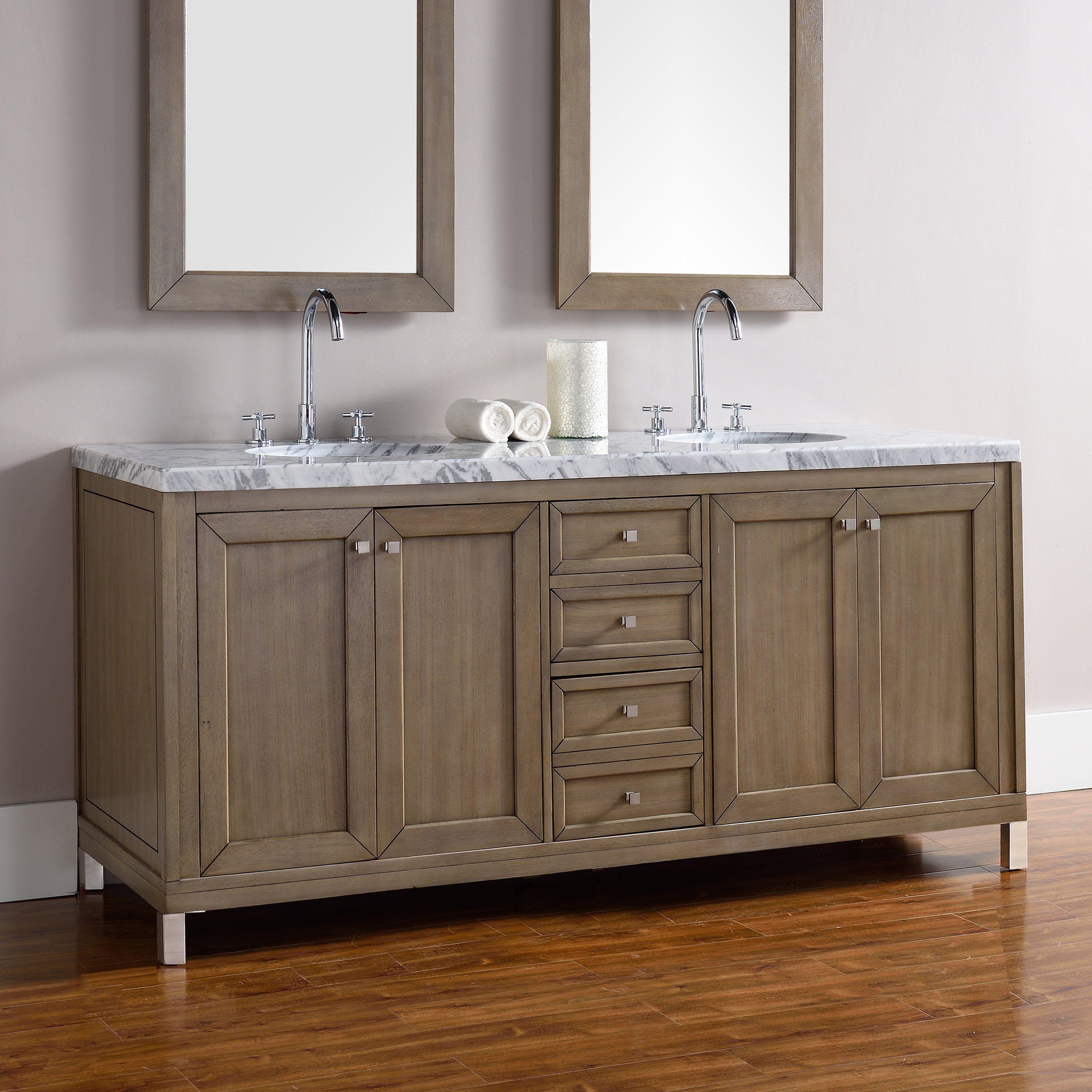 James Martin Chicago In Double Bathroom Vanity VWWW - Chicago bathroom vanity stores