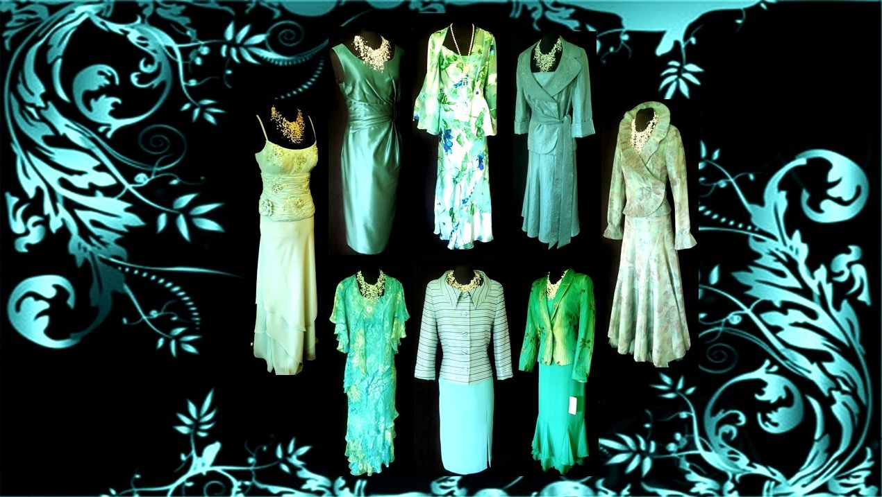 Wedding Dresses & Outfits in Turquoise.... Designers include: Ann ...