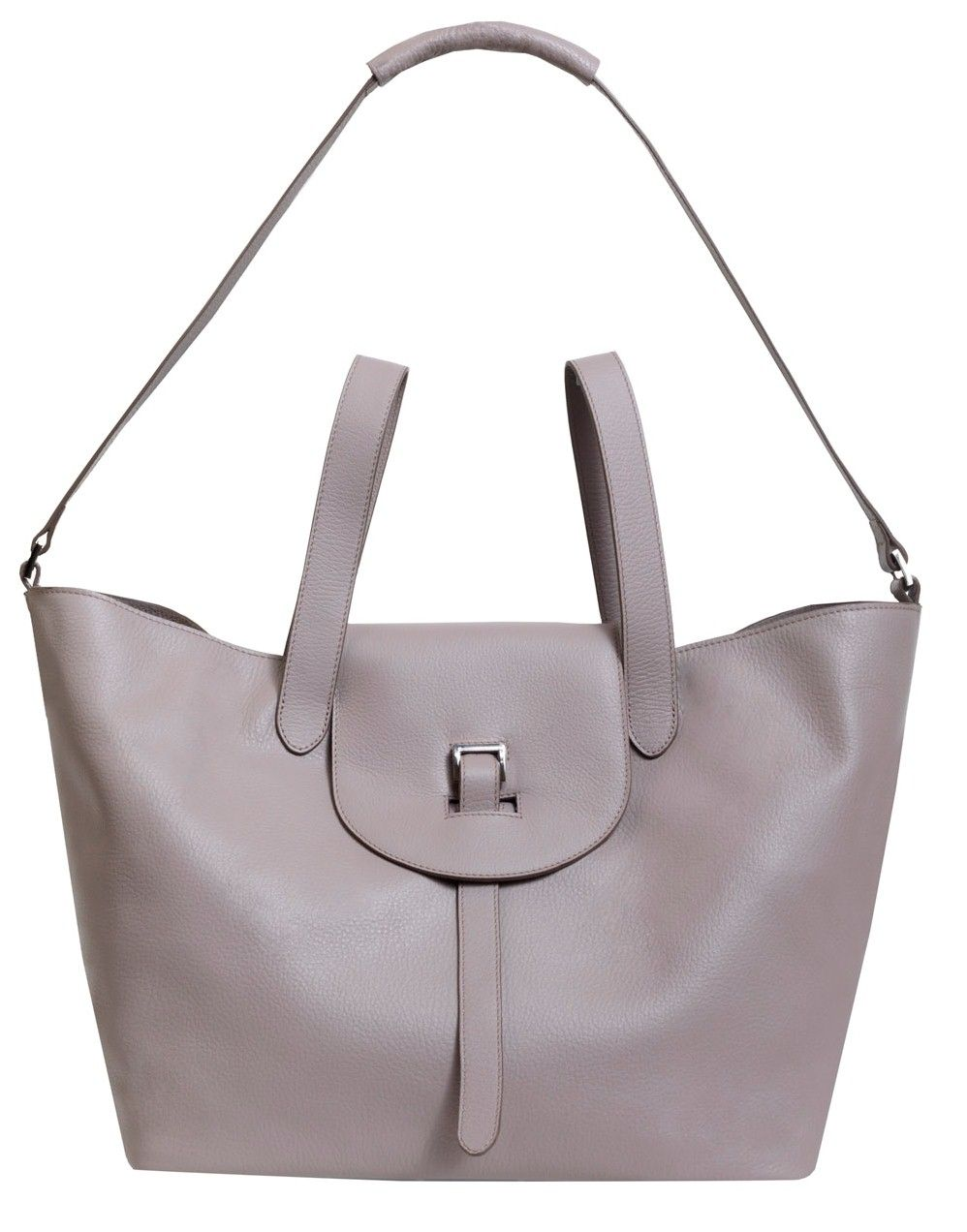 754c30cb07ec ... Italian leather handbags. Taupe Thela bag from Meli Melo
