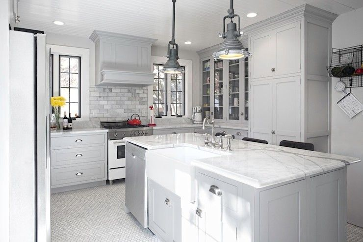 Kitchen Design Works Glamorous New England Design Works  Kitchens  Industrial Yoke Pendant Decorating Design