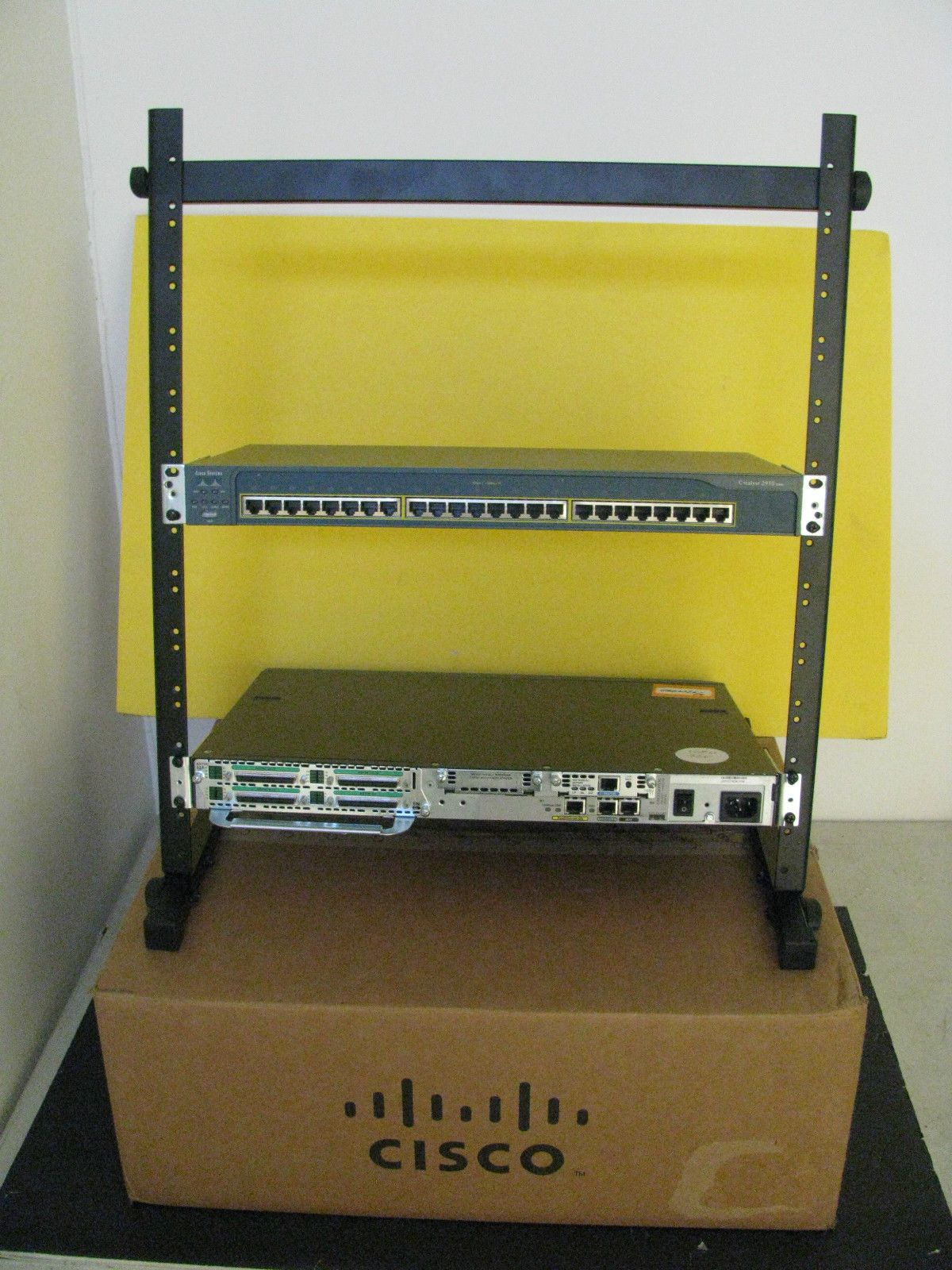 hight resolution of cisco 12u 19 rack ccna ccnp ccie network lab 3524 3550 2500 2600 2800 3560 3750 ebay this is a top pick