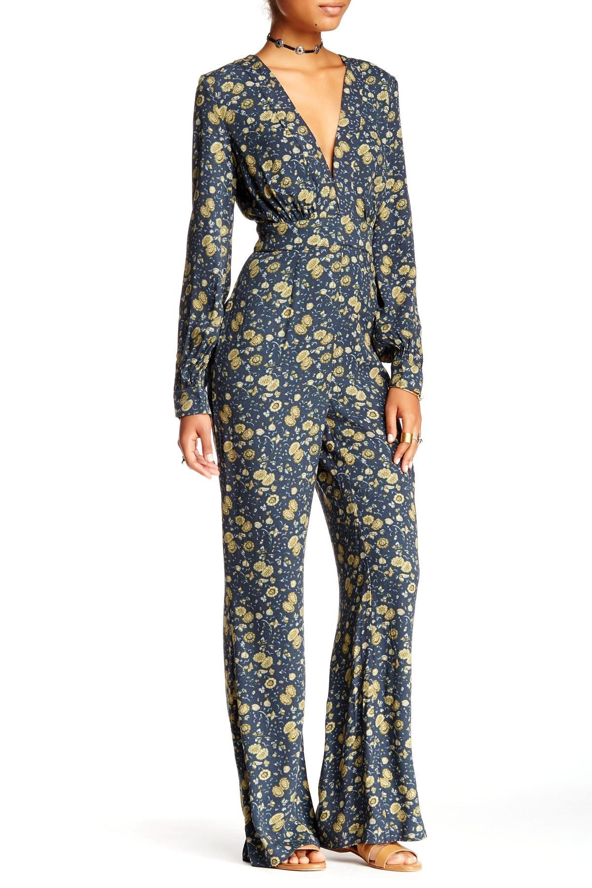 Free People Some Like It Hot Jumpsuit 10 Midnight Combo