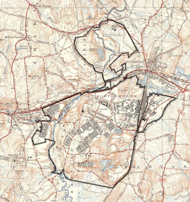 Devens Ma Map on