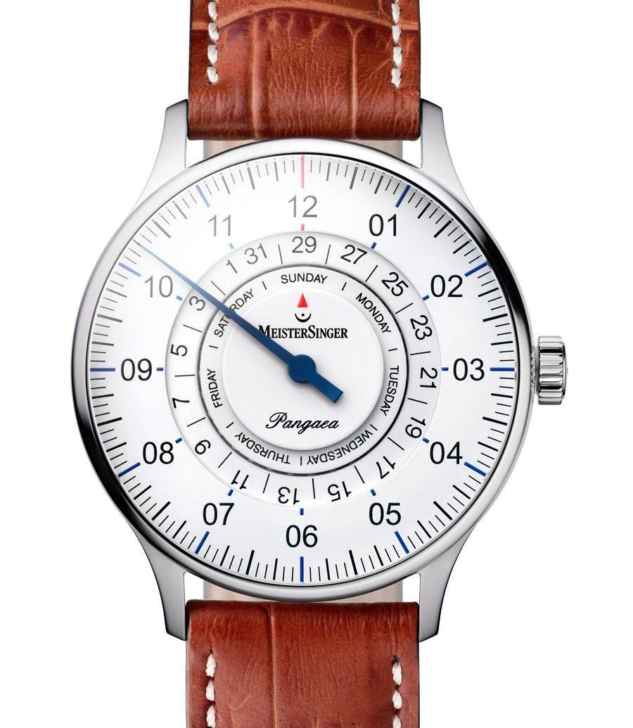 MeisterSinger | Pangaea Day Date weiß | Edelstahl | Uhren-Datenbank watchtime.net