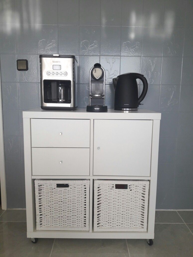 Coffee Bar, Cantinho do Café Ikea Kallax   HOME DECOR   Pinterest