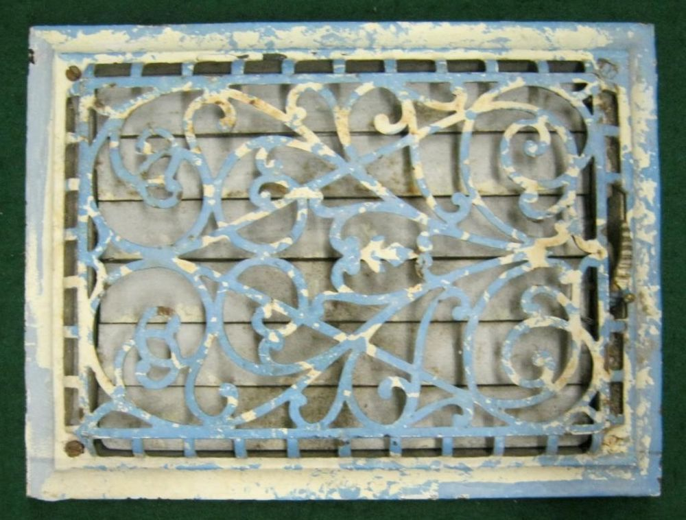 Antique Heat Grate Floor Wall Ceiling Register Vent 1472 13 Antiques Flooring Furnace Vent