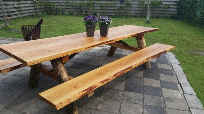 Picknicktafel Robinia hout