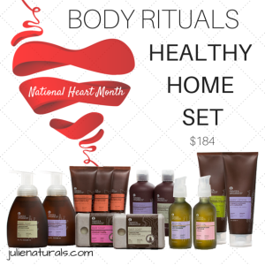 Celebrate National Heart Month with the Body Rituals - Healthy Home Set Only $148 shop.julienaturals.com