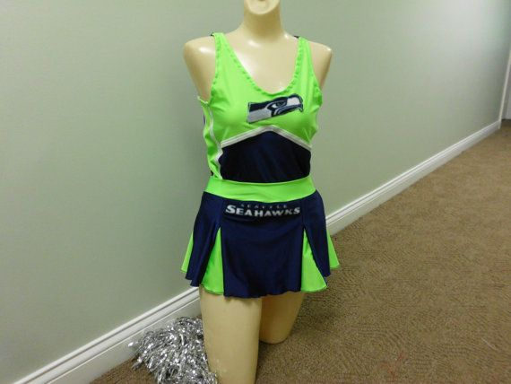 a1c9b0d2 SEATTLE SEAHAWKS nfl neon FOOTBALL by gabriellescostumes on Etsy ...