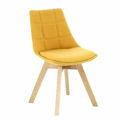 Chaise Jaune Moutarde Avec Pitement En Bois Design Scandinave