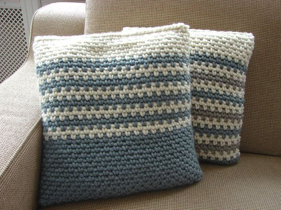how to make a chunky knitted cushion cover