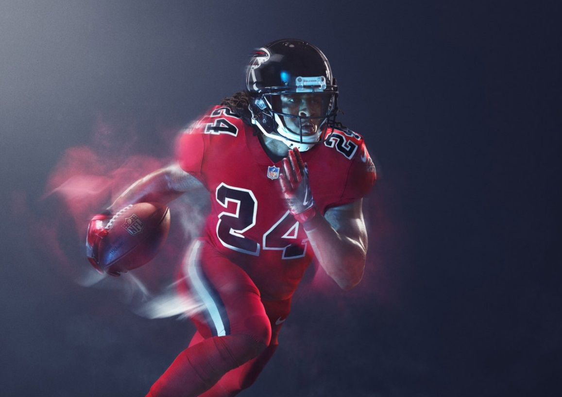 Atlanta Falcons 2016 Nfl Color Rush Uniform Color Rush Uniforms Nfl Color Rush Uniforms Color Rush