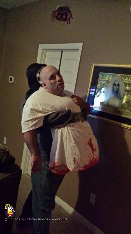 awesome optical illusion zombie halloween costume