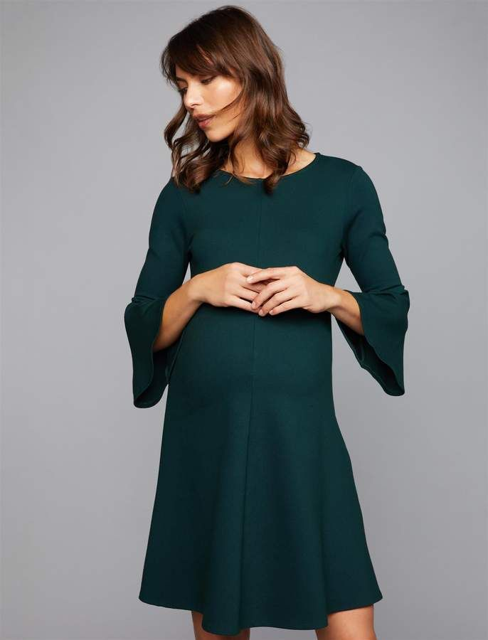 f9d81bf229482 Isabella Oliver Pea Collection Natalia Bell Sleeve Maternity Dress