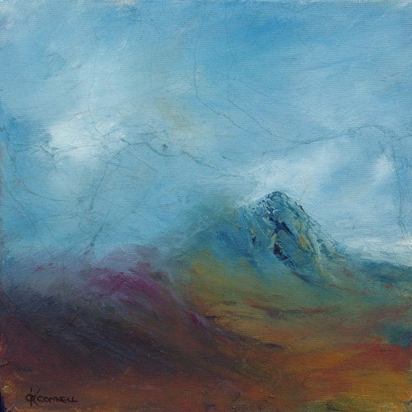 A Modern Contemporary Scottish Landscape Painting Inspired Bty The Heather Moors Of Scotla Contemporary Landscape Painting Painting Scottish Landscape Painting