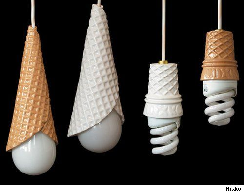 Ice cream cone hanging lamps unique fun different a great surprise