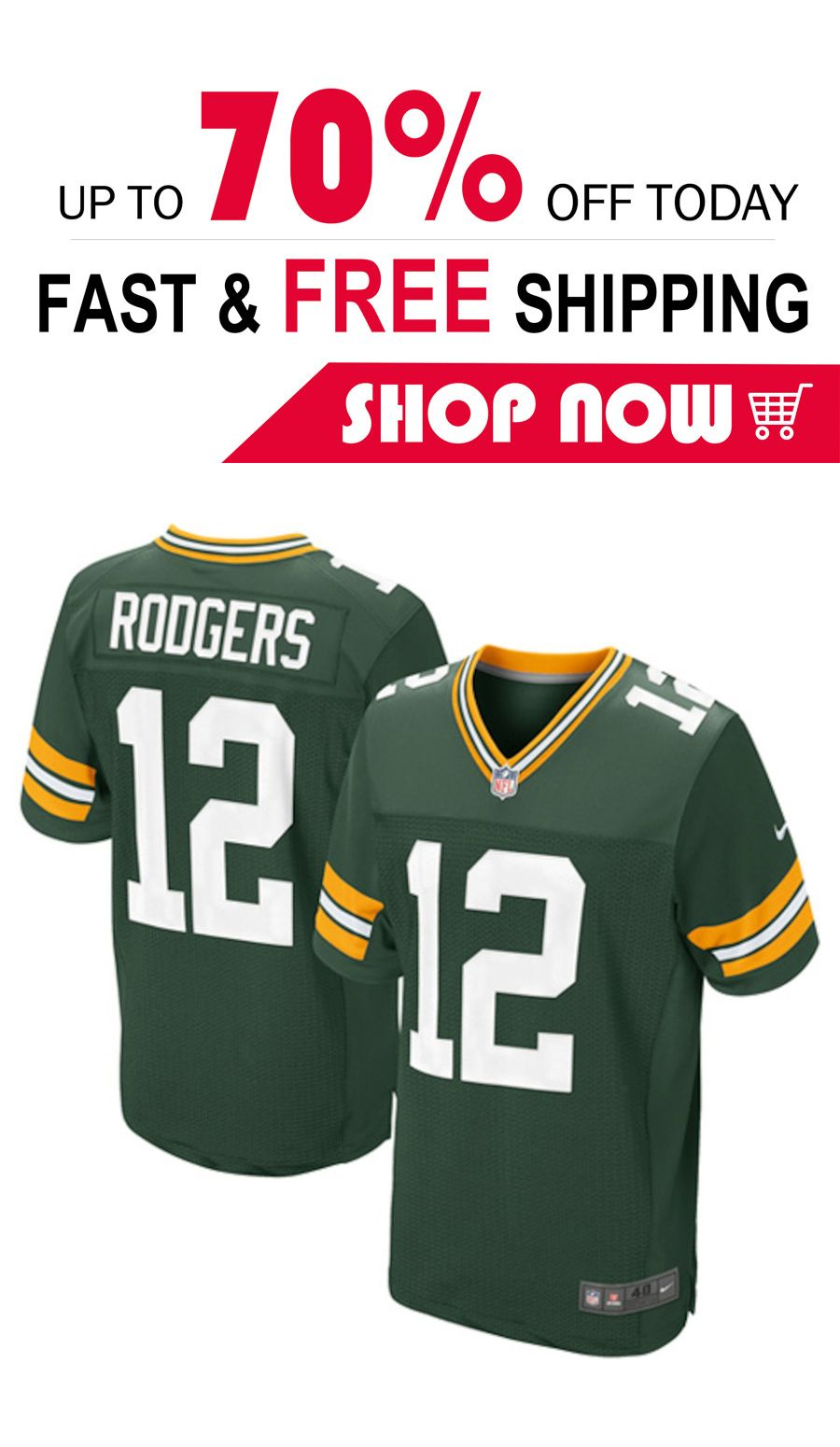 Mens Aaron Rodgers Green Bay Packers Football Jersey Green Bay Packers Football Green Bay Packers Jerseys Green Bay Packers