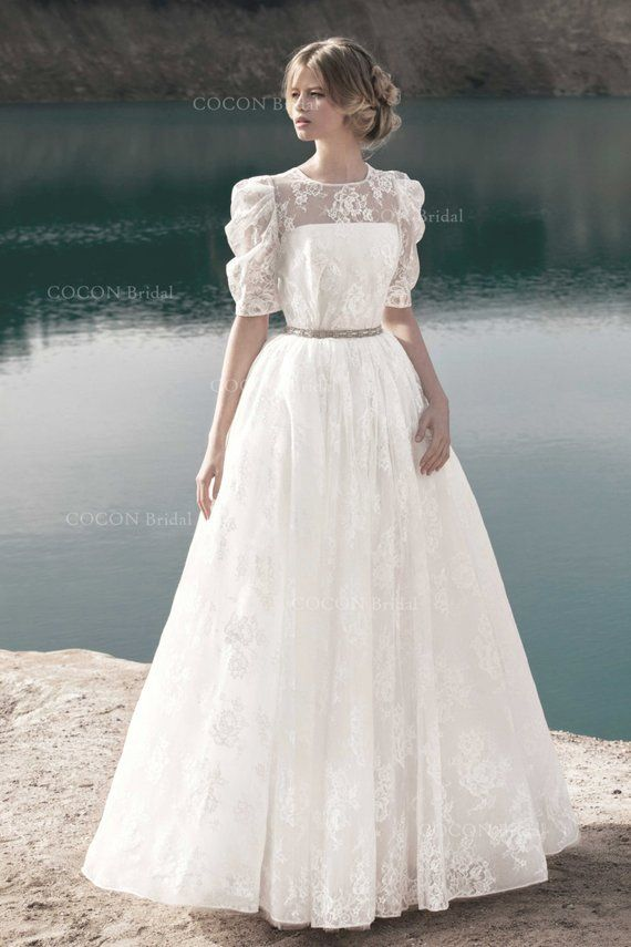 Designer Wedding Dress In Vintage Style Romantic Gown From Original