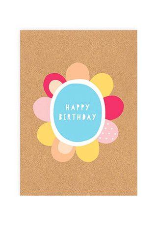 Elly Oak Card - Happy Birthday Bloom