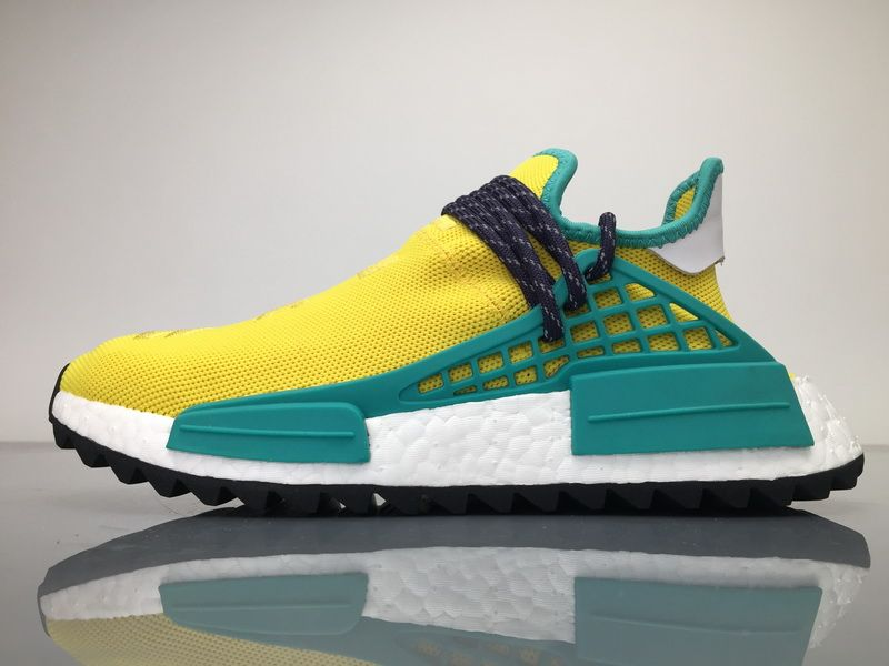 bcf065b8fae02 Adidas NMD Human Race Pharrell Williams Gold Yellow Men Women Sneaker for  Sale  36-48