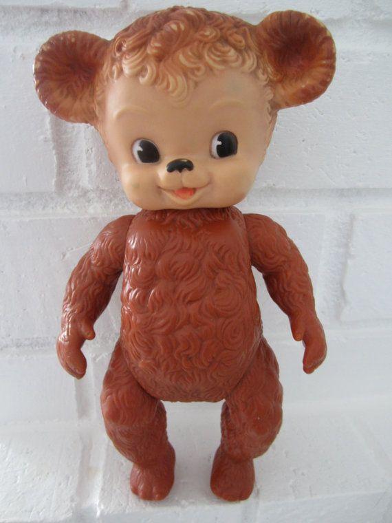 Sun Rubber Company Sunny Bear Rubber Squeak Toy Sunruco