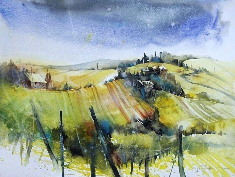 Landschaften - Heinz Schweizer | Water colors | Watercolor ...
