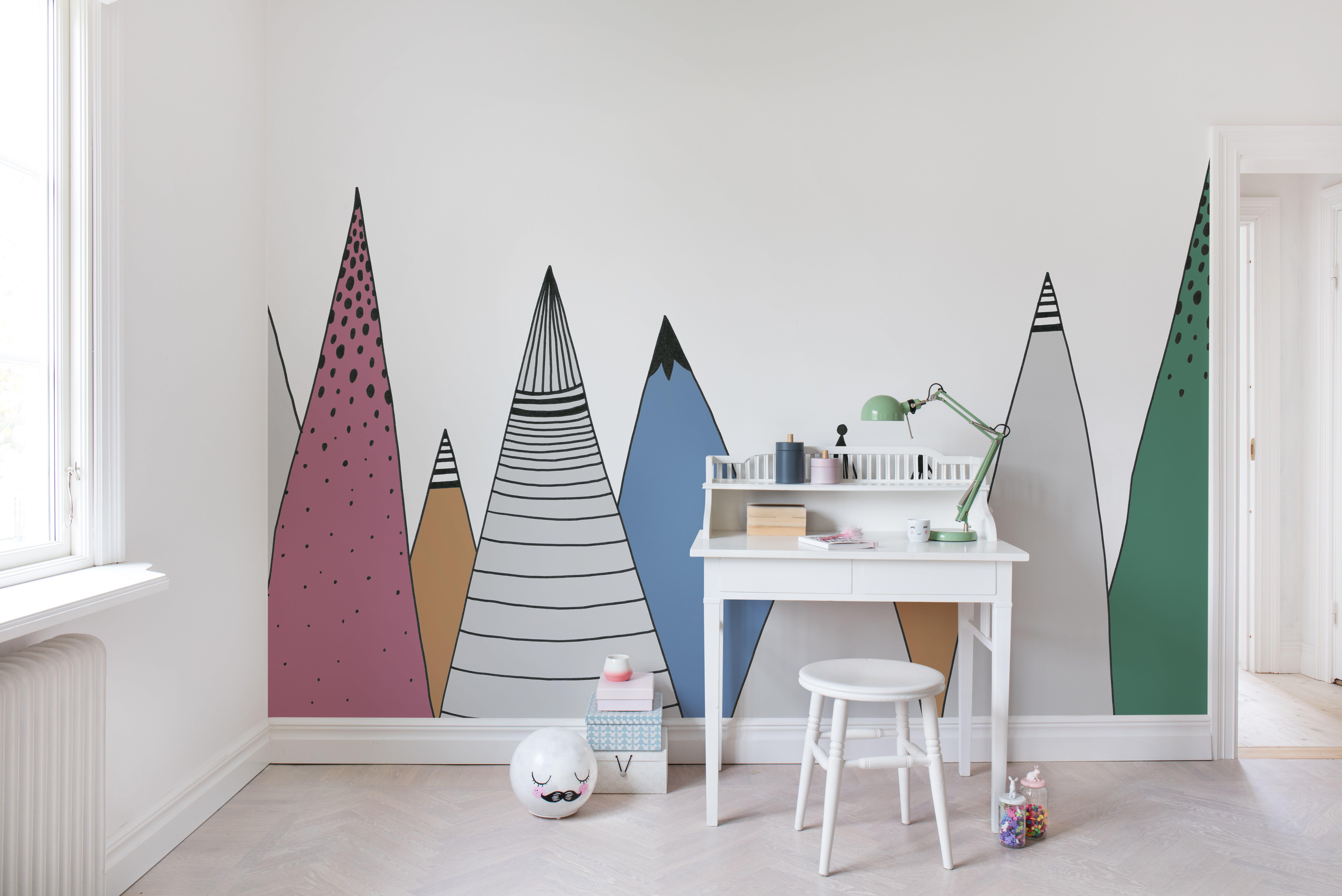 Kinderzimmer wandfarbe mountain ridge color  kid bedroom inspiration  pinterest