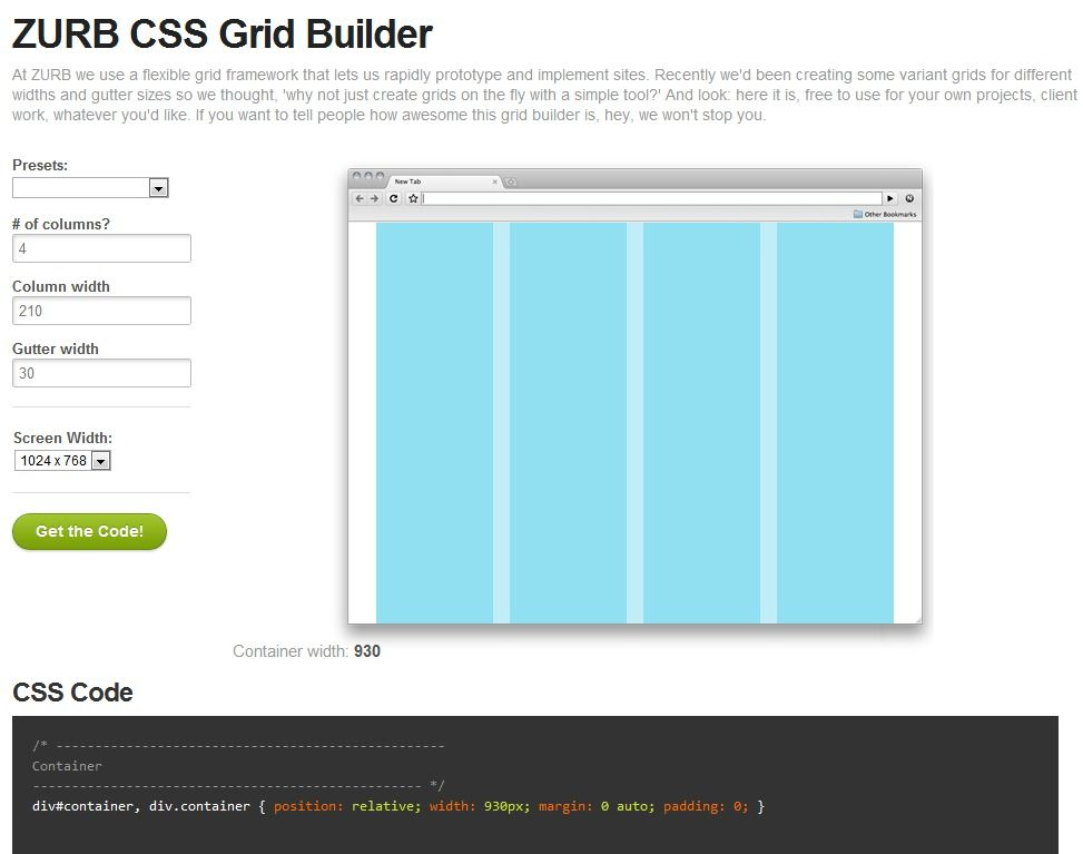 At Zurb We Use A Flexible Grid Framework That Lets Us Rapidly Prototype And Implement Sites Recently We D Been Creating Some Css Grid Gutter Sizes Web Design