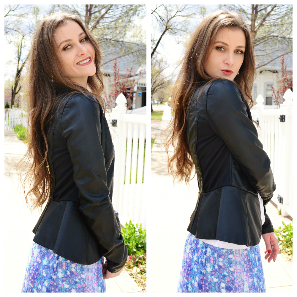 Loving my @Charlotte Russe peplum leather jacket <3 #charlotterusse ...