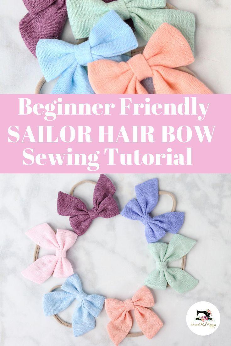 Photo of Sailor Hair Bow Sewing Tutorial und kostenlos druckbares PDF-Muster