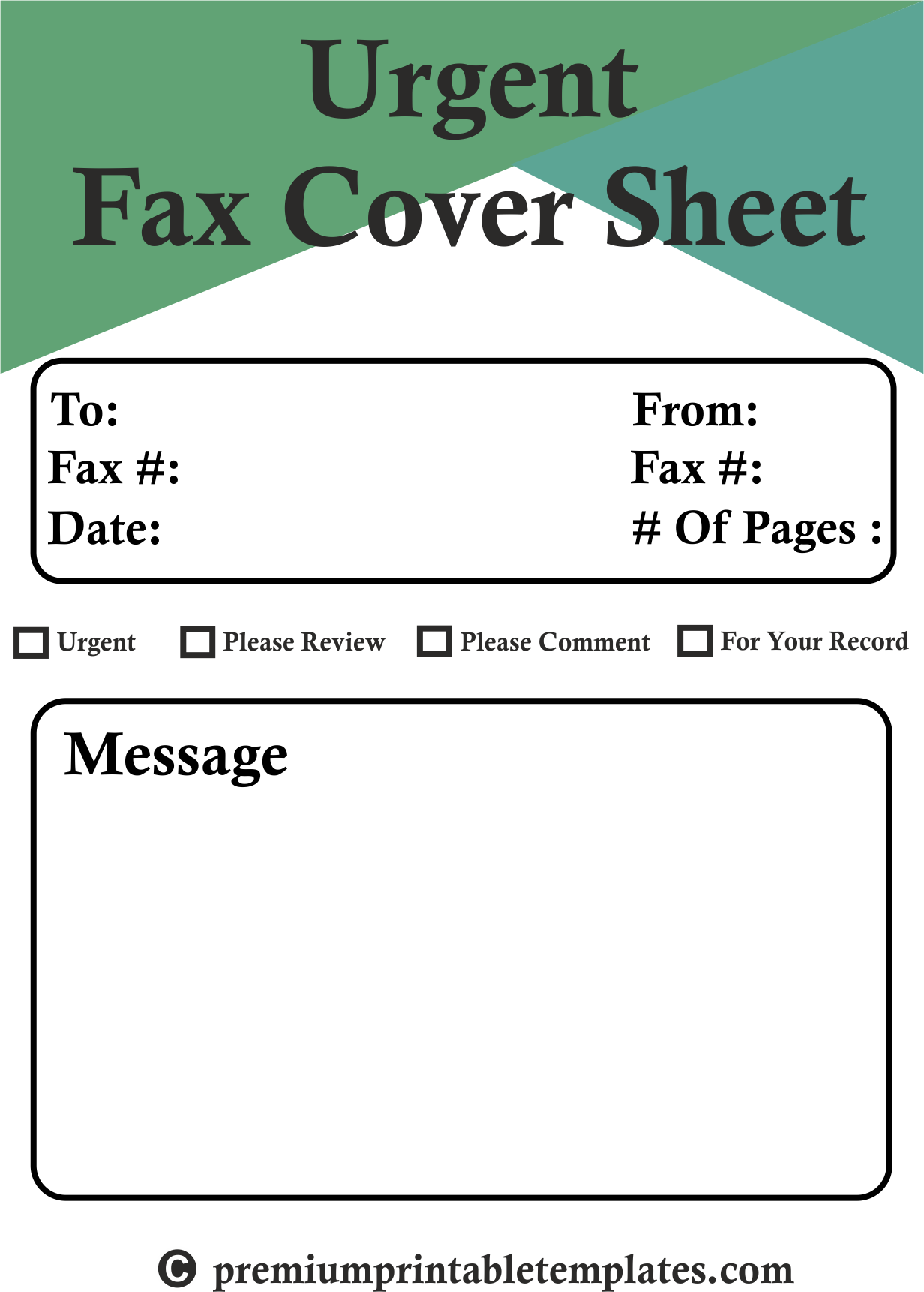 Fax Cover Sheets Templates Urgent Fax Cover Sheet Is The Fax Cover Sheet Which Comes With The .