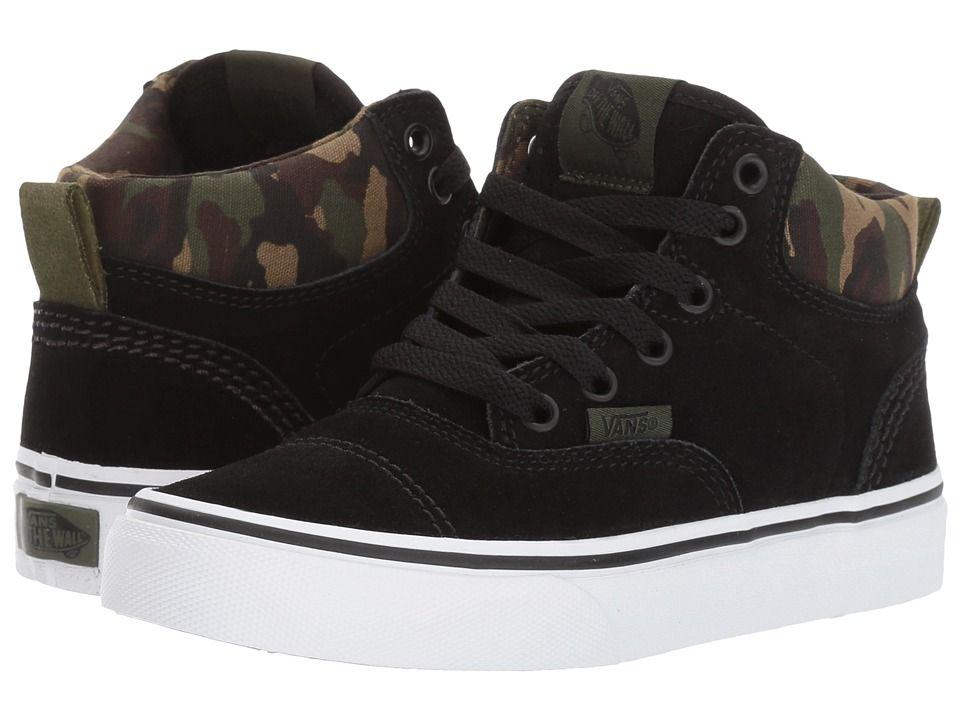 vans black boys shoes