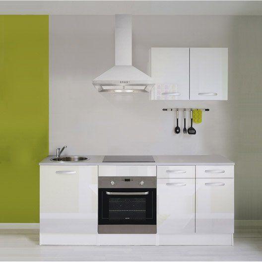 Meuble de cuisine blanc brillant Interiors and Kitchens