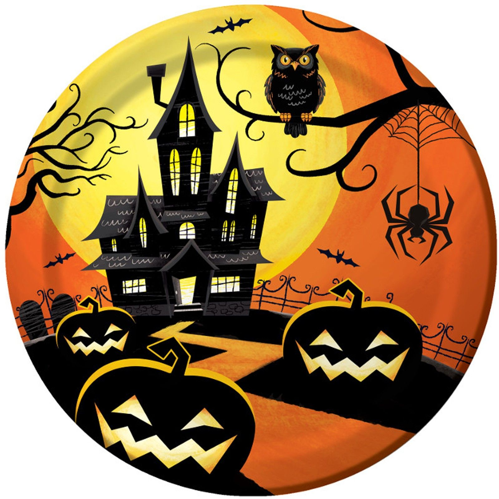 Haunted Night Dinner Plates (With images) Halloween