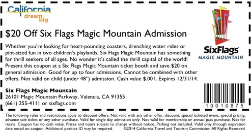 Best Six Flags Coupons 2019 Discounts Online Coupon Codes Printables Cha Ching Queen Six Flags Tropical Travel Six Flags Over Texas