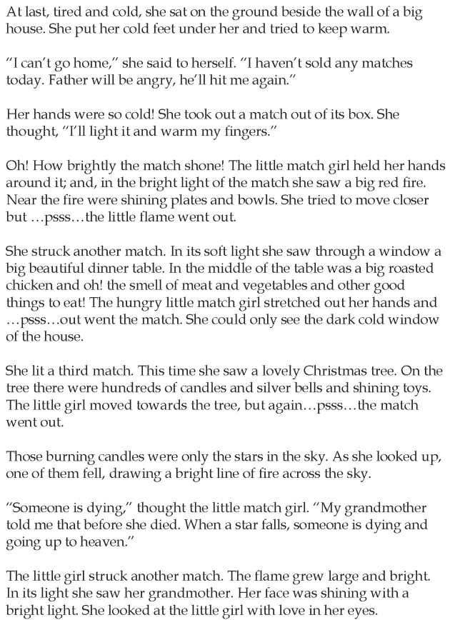 Grade 5 Reading Lesson 24 Short Stories The Little Match Girl 1