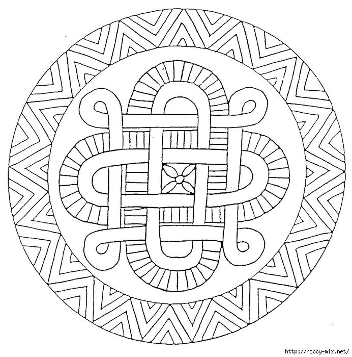 Mandala 23 (692x700, 293Kb) | Мандалы и Чернила