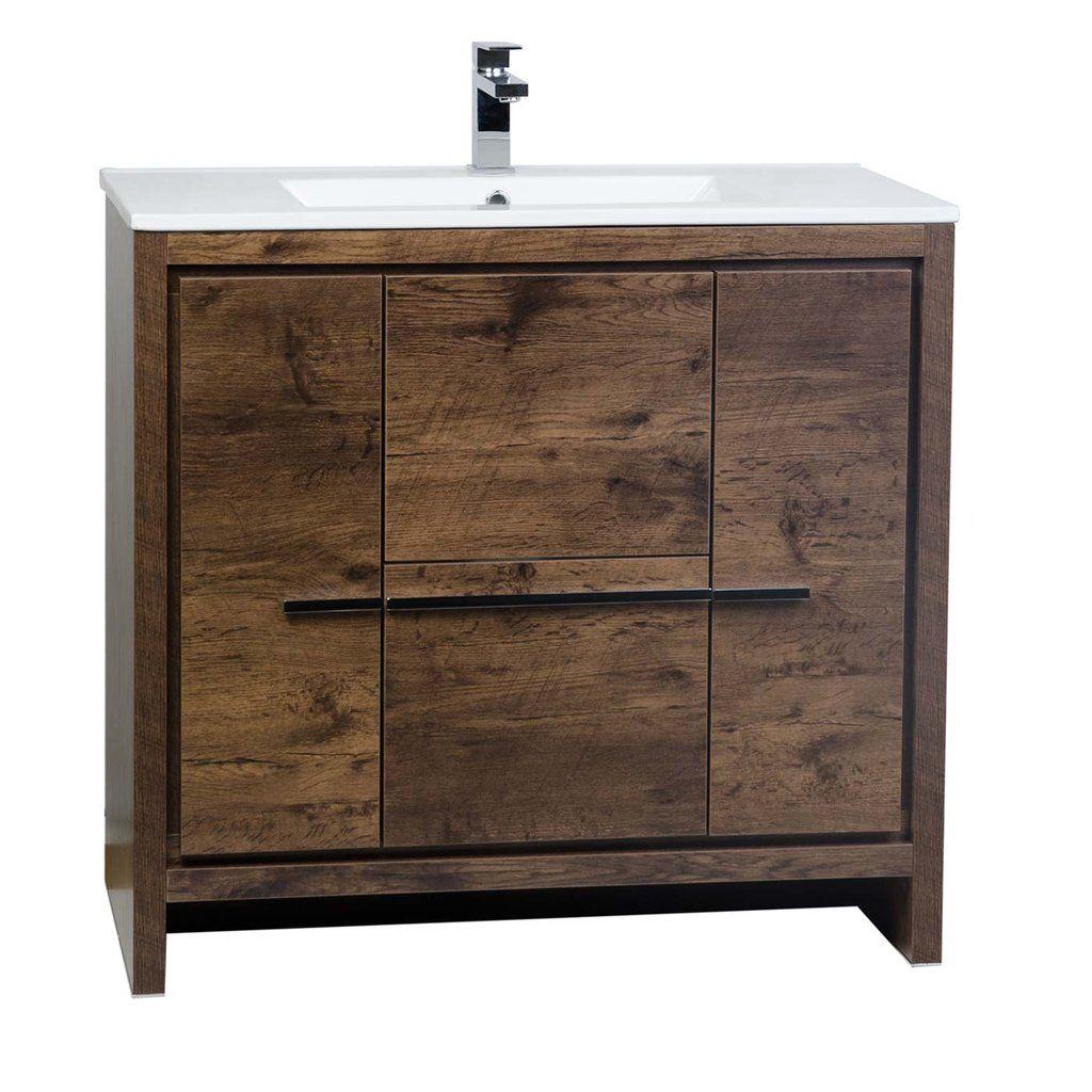 Cbi Enna 36 Inch Rosewood Modern Bathroom Vanity 36 Inch