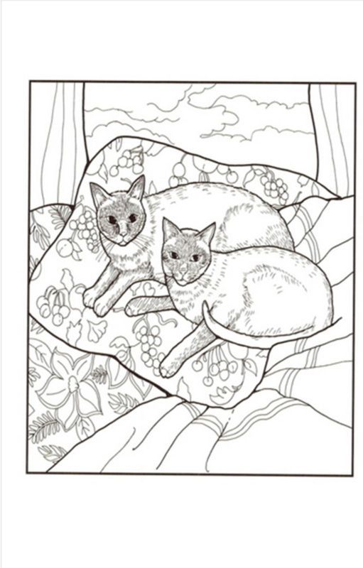 Cats Coloring Book By Mimi Vang Olsen For Adult Anti Stress Art Therapy
