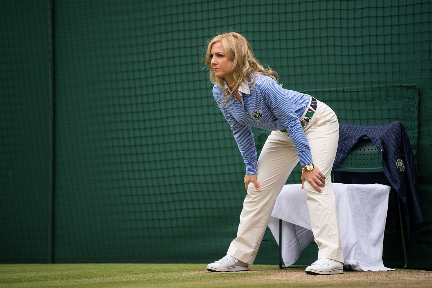 A Line Judge Watches Closely To See Where The Ball Lands During The Match Between Marin Cilic And Sam Querrey Wimbledon Tennis Players Wimbledon Final