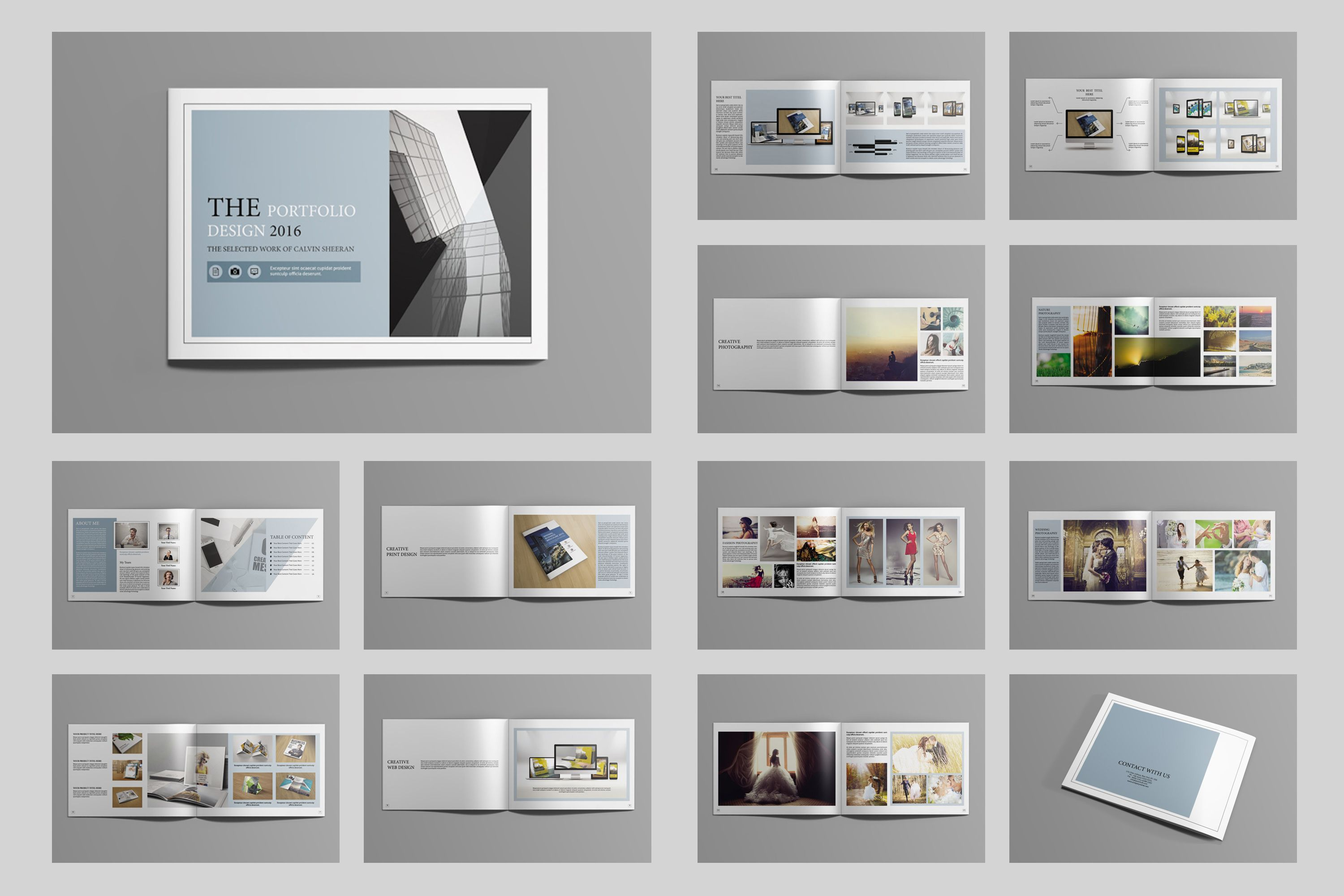 Indesign Portfolio BrochureV Brochures Template And - Portfolio brochure template